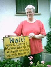 Historisches Schild